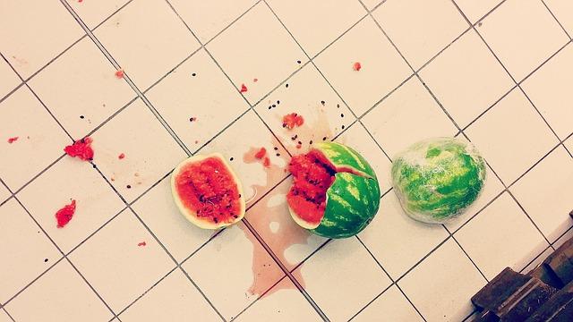 rozbitý meloun
